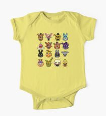 Five Nights at Freddy's - Pixel art - Multiple characters One Piece - Short Sleeve