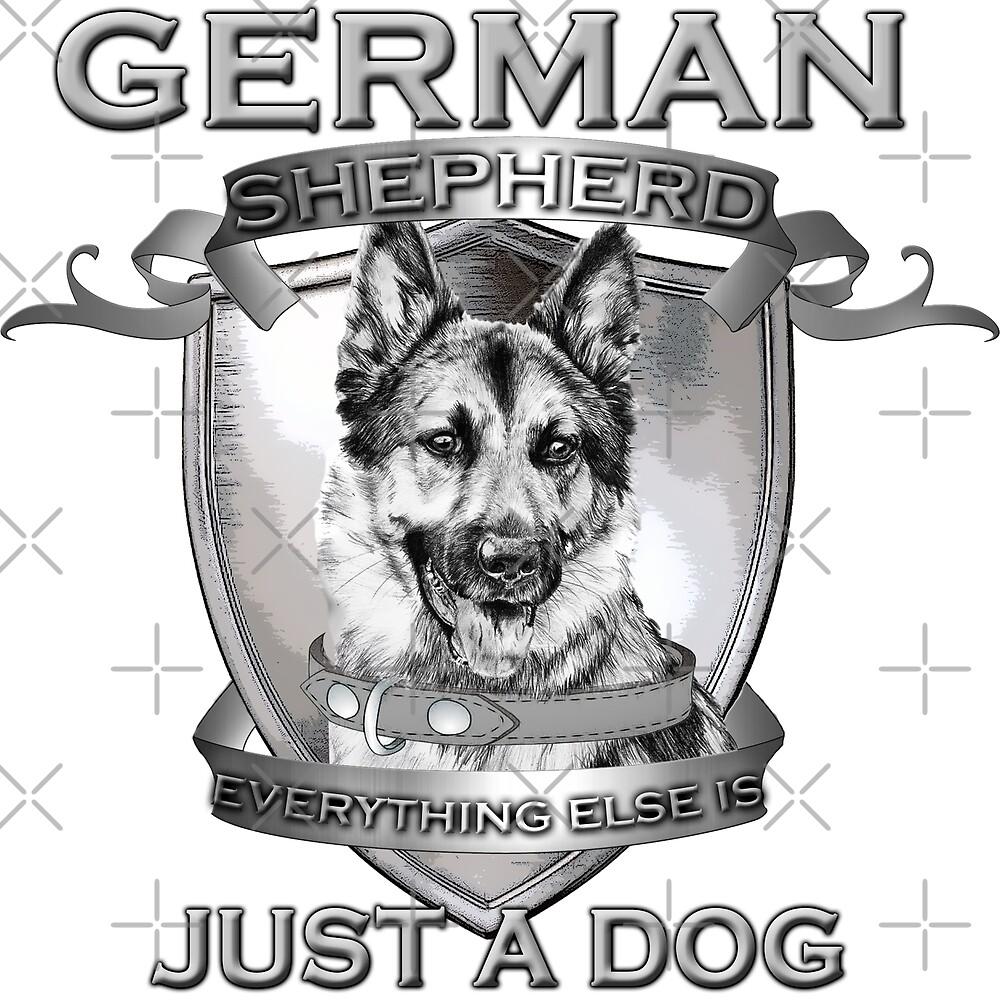 German Shepherd by American  Artist