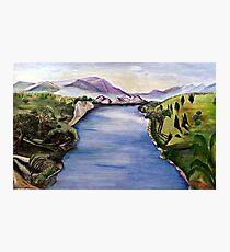 The Jordan River (Artist Interpretation for Baptismal Mural) Photographic Print
