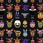 Five Nights at Freddy's - Pixel art - Multiple characters by GEEKsomniac