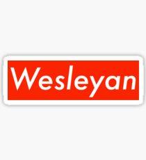wesleyan Sticker