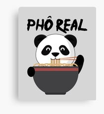 Pho Real Funny Panda Eating Ramen  Leinwanddruck