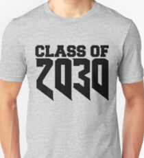 Class of 2030 Star Year High School Graduate Education Kindergarten to Graduation Grow With Me  Unisex T-Shirt