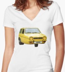 C3PO RELIANT ROBIN Women's Fitted V-Neck T-Shirt