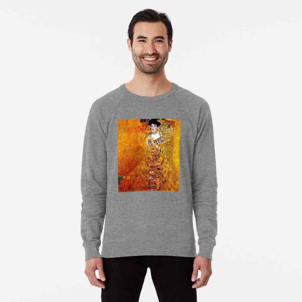 DAME IN GOLD: Gustav Klimt - Hochauflösender Druck von 1912 Leichter Pullover