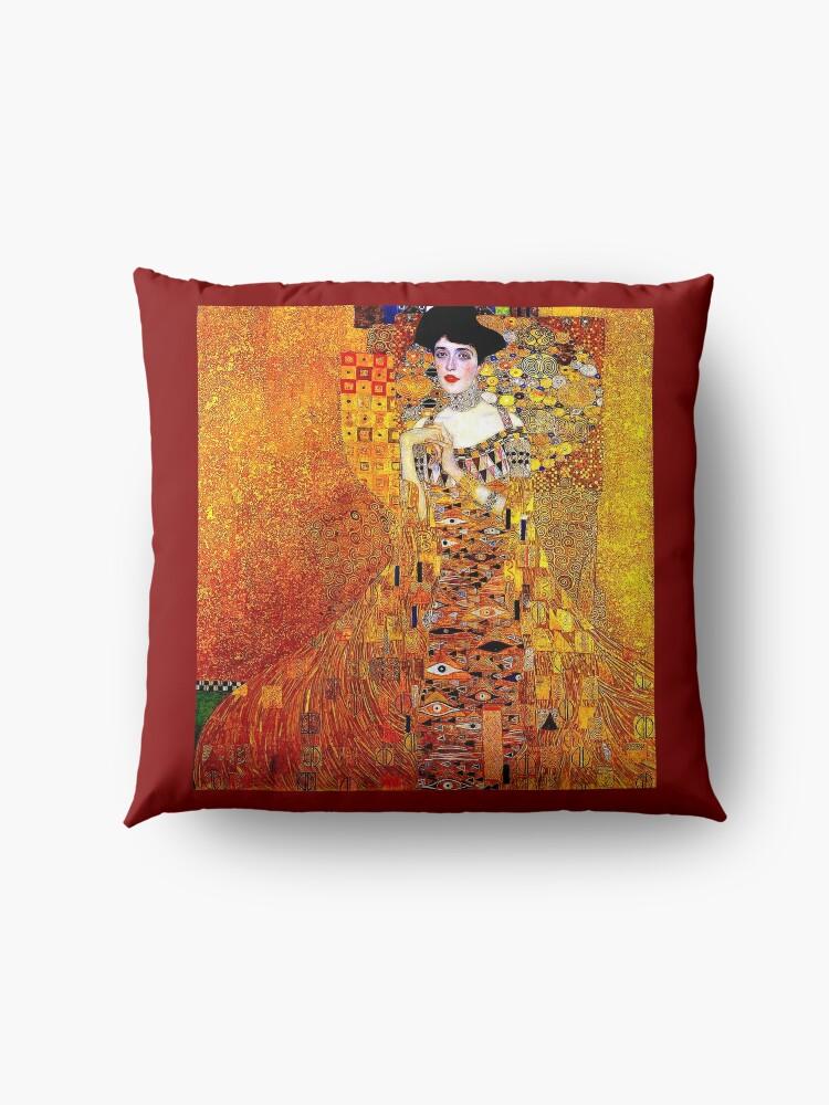 Alternative Ansicht von DAME IN GOLD: Gustav Klimt - Hochauflösender Druck von 1912 Bodenkissen