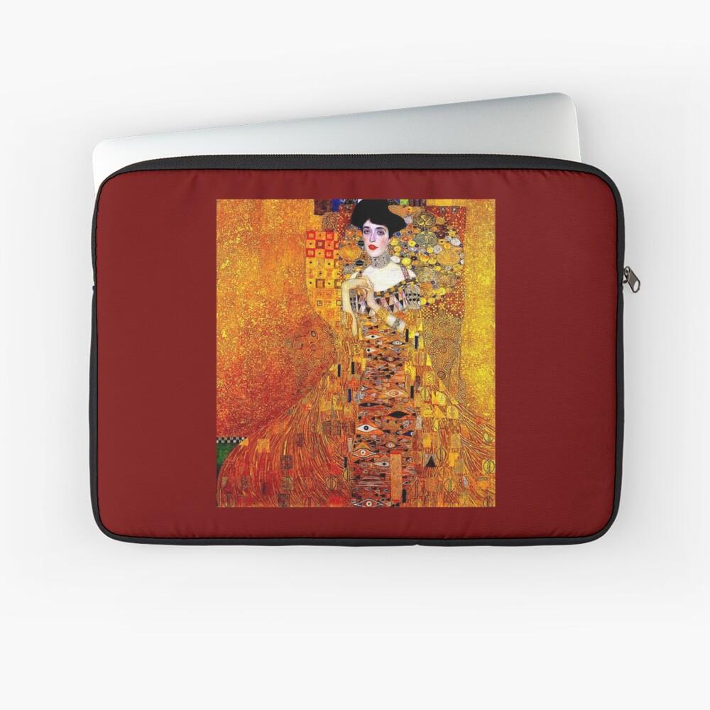 DAME IN GOLD: Gustav Klimt - Hochauflösender Druck von 1912 Laptoptasche