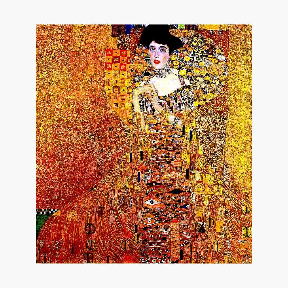 DAME IN GOLD: Gustav Klimt - Hochauflösender Druck von 1912 Fotodruck