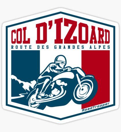 Route des Grandes Alpes France Motorcycle T-Shirt Sticker - Col d'Izoard 2 Sticker