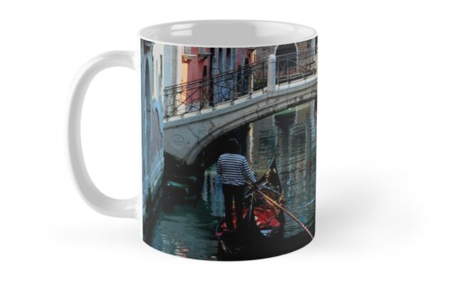 VENICE BRIDGE AND GONDOLAS (MUG) by Thomas Barker-Detwiler