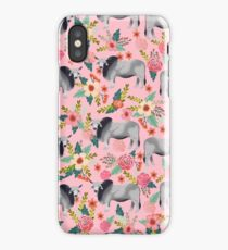 Brahman Cattle cow farm floral homesteader farming cattle breeds  iPhone Case/Skin