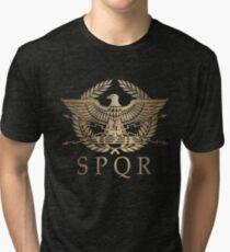 SPQR- Roman Empire Standard Shield Tri-blend T-Shirt