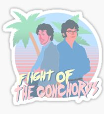 Flight Of The Conchords 80s vibes Sticker