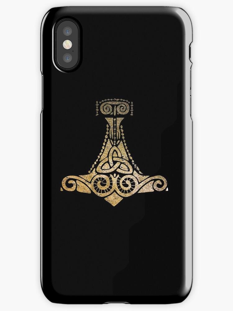 Thors Hammer Norse Mythology God Symbol Iphone Cases Covers By