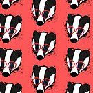 Hipster Badger by Andreea Butiu