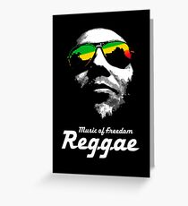 Reggae Music of Freedom Greeting Card