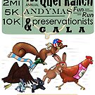 1st Annual Quel Ranch Andymas Fun Run & Preservationists Gala by bleilaniarts