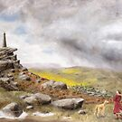 Wind and Rain over Wainman's Pinnacle by wetherellart
