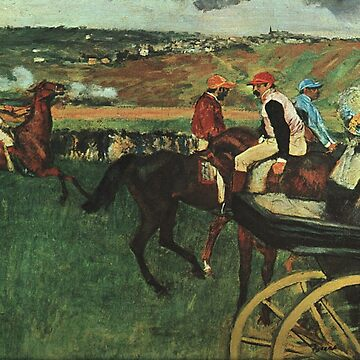 Original Edgar Degas French Impressionism Oil Painting Restored at the races by jnniepce