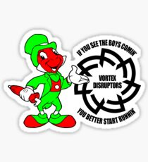 Jiminy - RL Grime Vortex Disruptors Logo/Pin-up (Black Logo) Sticker
