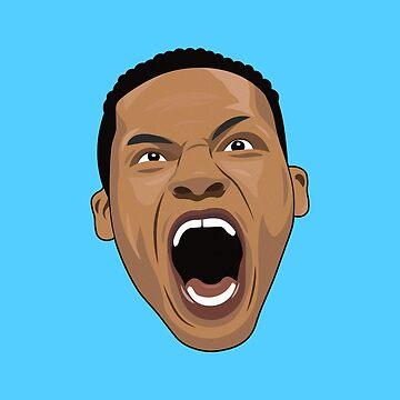 Russell Westbrook face by petervuart