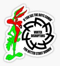 Coyote - RL Grime Vortex Disruptors Logo (Black Logo) Sticker