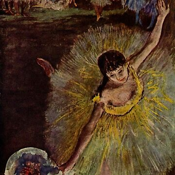 Original Edgar Degas French Impressionism Oil Painting Restored ballet dancer by jnniepce