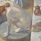 Original Edgar Degas French Impressionism Oil Painting Restored Woman Bathing by jnniepce