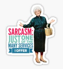 Golden Girls Sarcasm Sticker