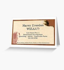 Harry dresden cards Greeting Card