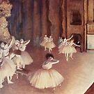 Original Edgar Degas French Impressionism Oil Painting Restored Ballet Dancers by jnniepce