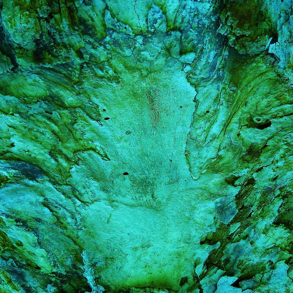 Green Wood Abstract by MarkAntum