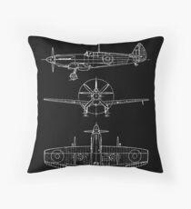Spitfire Flugzeuge Blaupausen Dekokissen