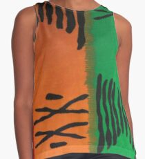 Colorful Mudcloth Contrast Tank