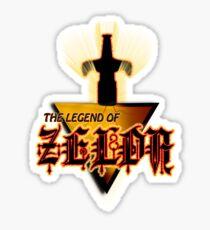 Zelda Logo Tee Sticker