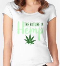 The Future is HEMP (Green) Fitted Scoop T-Shirt