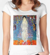 BARONESS ELIZABETH : Gustav Klimt 1914 Painting Print Women's Fitted Scoop T-Shirt