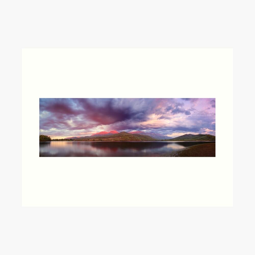 Lake Buffalo Twilight, Victoria, Australia Art Print