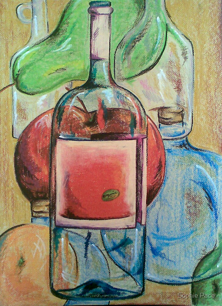 Fruit and Bottles by Sophie Pace