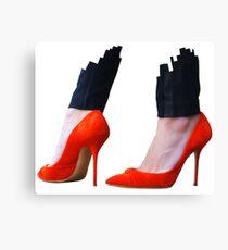 Red high heels Canvas Print