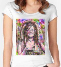 The Legend Janis Hippie Joplin Women's Fitted Scoop T-Shirt