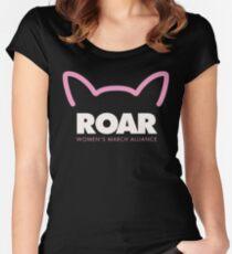 Pink Pussy ROAR - Women's March Alliance Women's Fitted Scoop T-Shirt