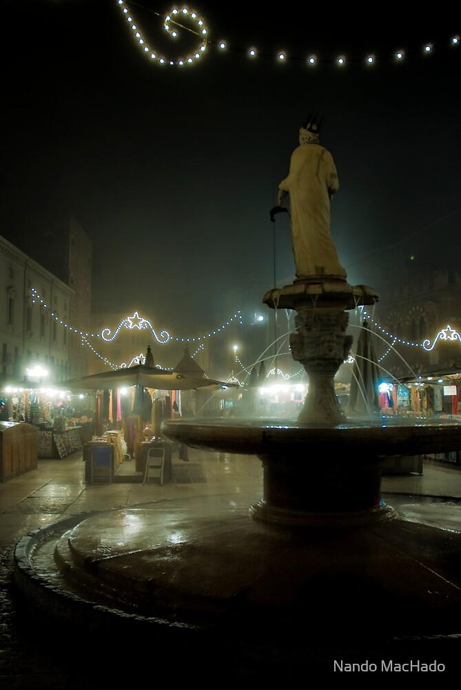 Piazza Della Erbe, Verona, Italy by Nando MacHado