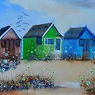 Beach Huts 1 by FrancesArt