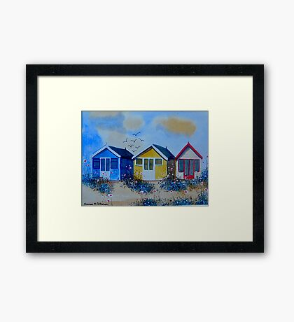 Beach Huts 2 Framed Print
