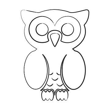Owl dark t-shirt by hebron