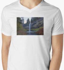 South Falls at Silver Falls State Park Oregon Men's V-Neck T-Shirt