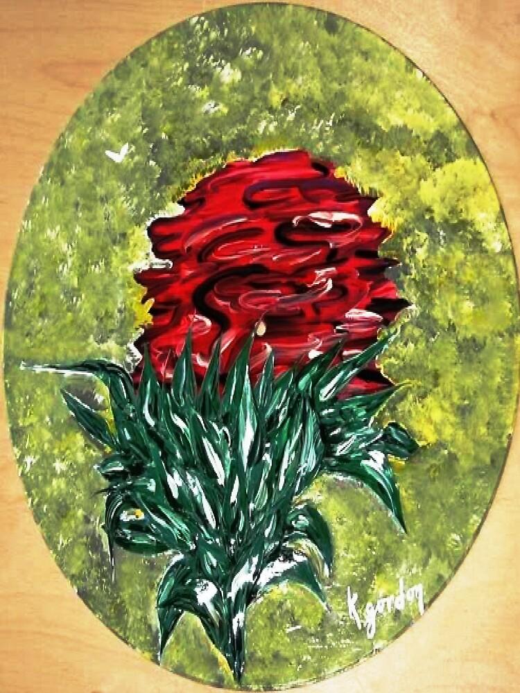 Single Red Rose by WhiteDove Studio kj gordon