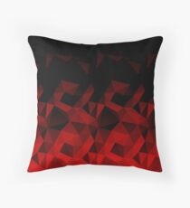 Abstract polygonal pattern .Red, black triangles. Throw Pillow