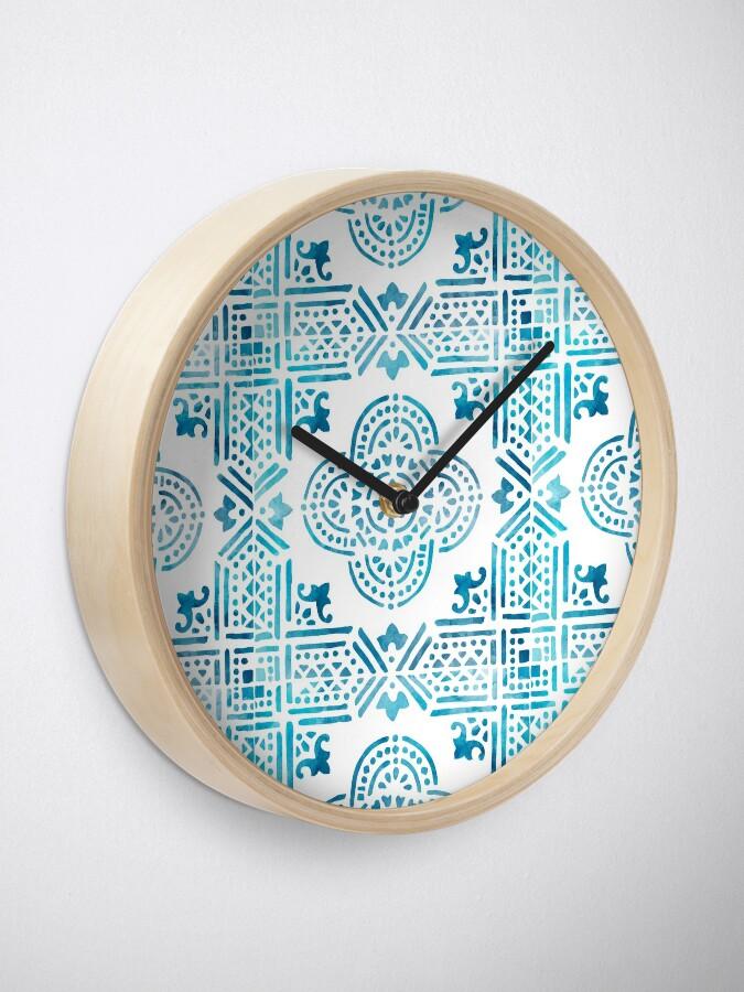 Alternate view of Spanish Tile Clock